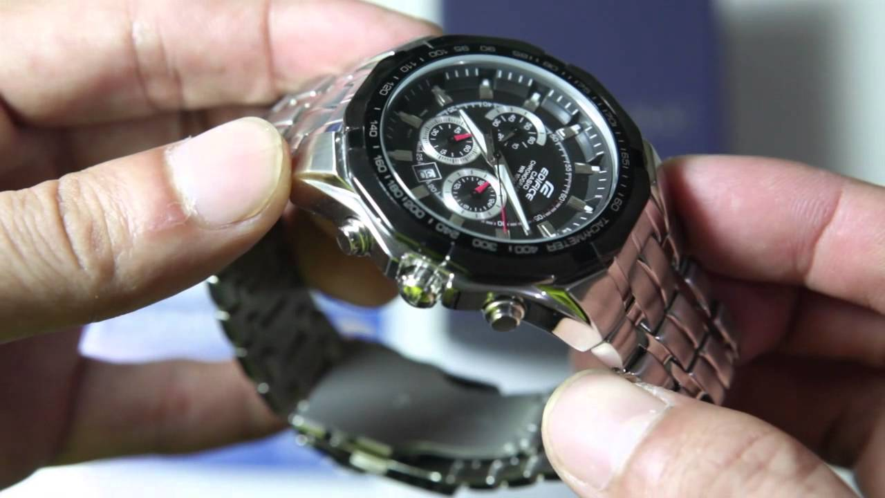 dd3bff3d3 Casio Edifice EF-540D-1AV - YouTube