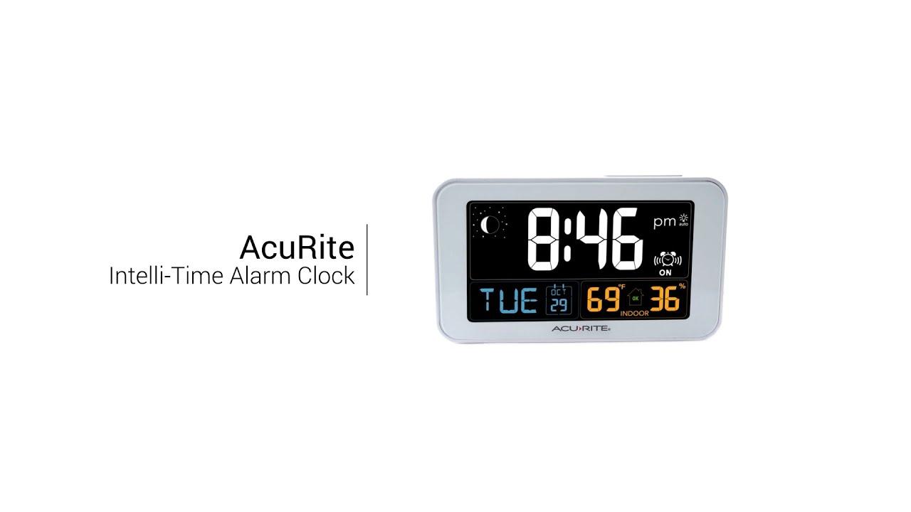 acurite 13040 intelli time clock with indoor temperature and usb