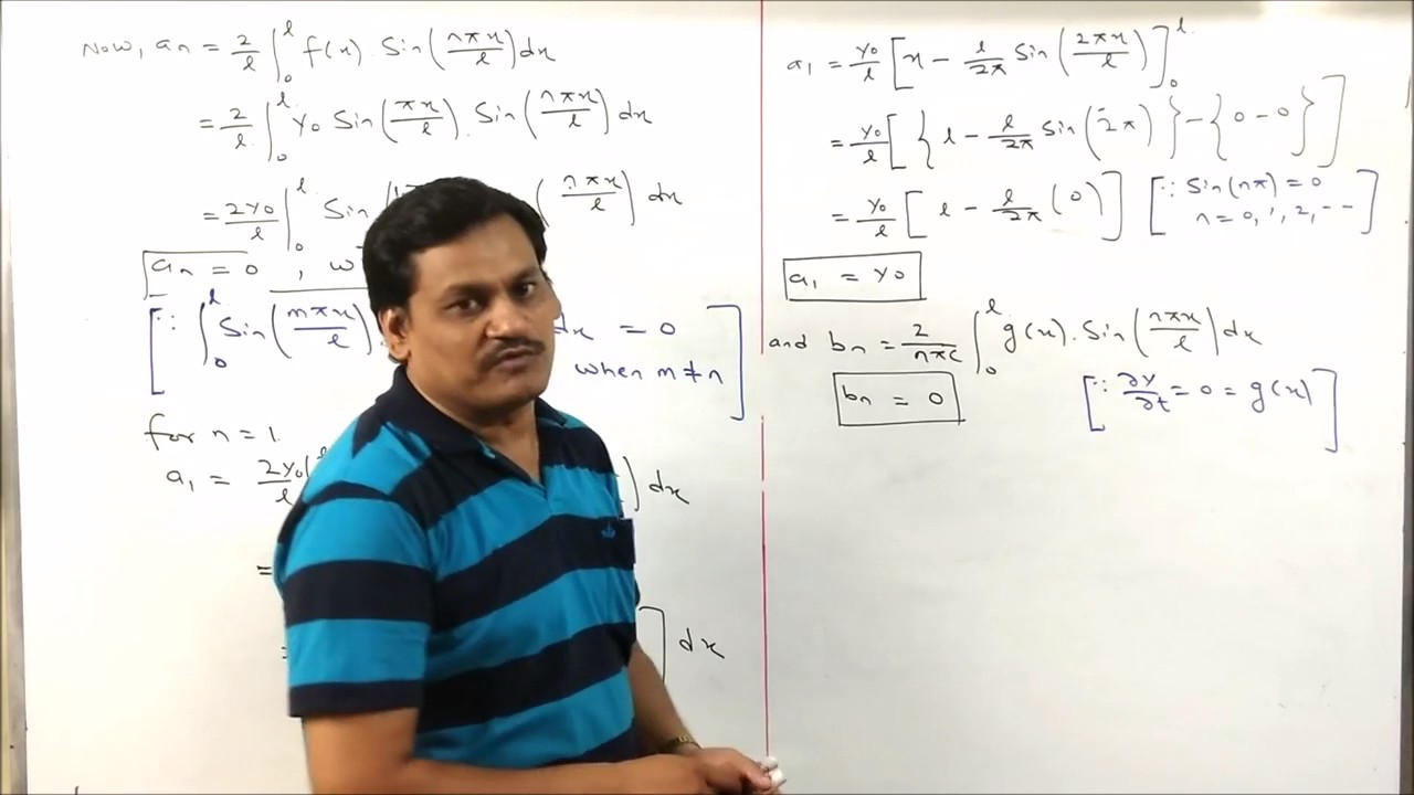 Lecture-19 Partial Differential Equation-One Dimensional wave Equation in  Hindi