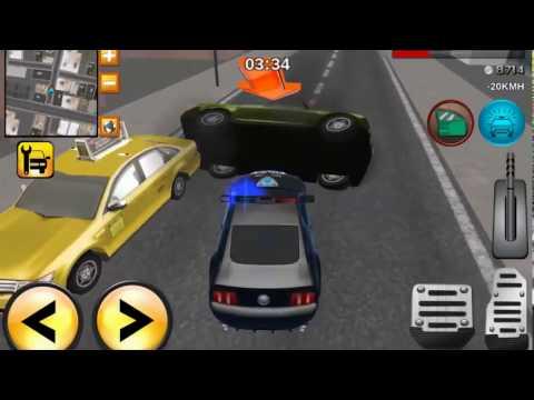 Полицейская машина с мигалками патрулирует город мультик  Игра про полицейскую машину