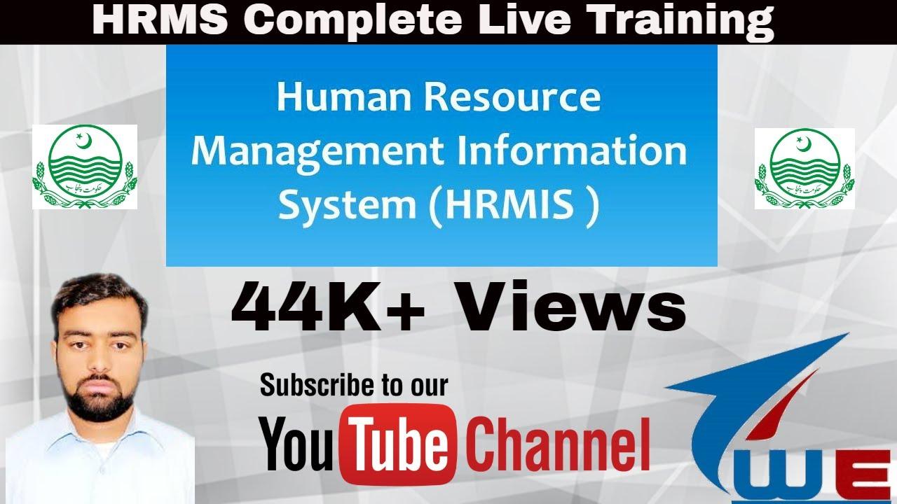 Hrmis Punjab Complete Training Part 1 School Education