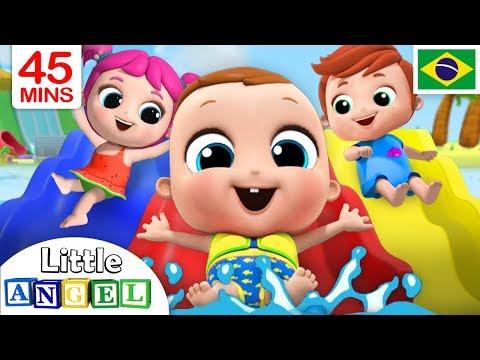 Um Dia no Parquinho Aqu谩tico! 馃そ | + V铆deos Infantis do Little Angel Portugu锚s