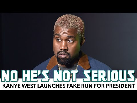 Kanye West Launches Fake Run For President
