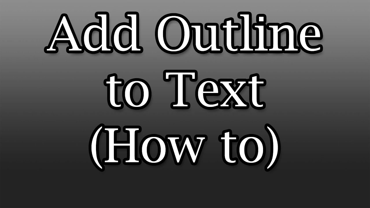 how to outline letters in photoshop add outline quot stroke quot to text adobe photoshop 22336