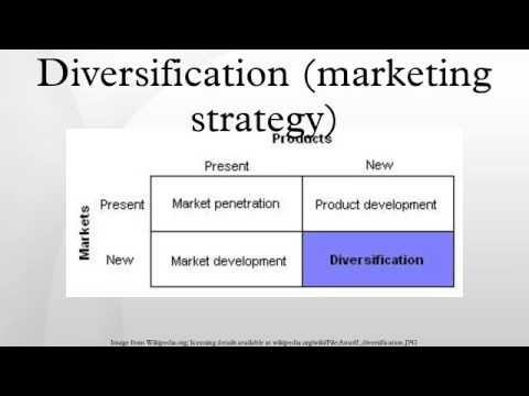 Product diversification marketing strategy
