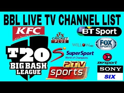 BBL T20 2018-19 Live Telecast TV Channels List |Big Bash League T20 2018-19  BY KRISH TV