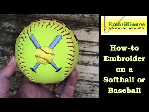 d46694dd5 How-to Embroider a Baseball or Softball using Embrilliance Essentials