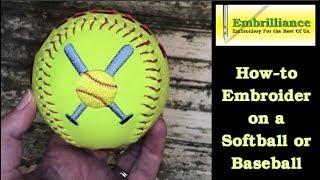 كيفية التطريز البيسبول أو الكرة اللينة باستخدام Embrilliance أساسيات