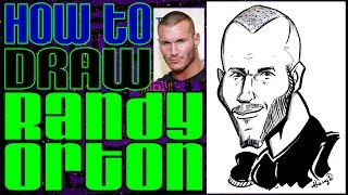 How To Draw A Quick Caricature Randy Orton