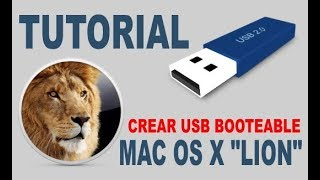 Crear USB booteable mac OS X LION
