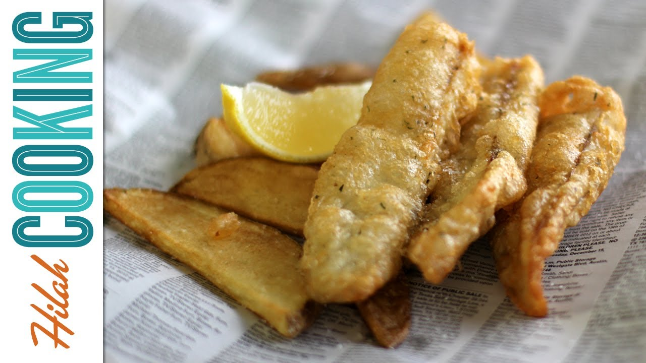 How to make fish and chips hilah cooking youtube for How to make fish