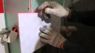 Как положить плитку своими руками красиво и быстро (наружные углы и отверстия)(Подробное описание процесса заусовки (запила плитки под 45 градусов) для оформления наружных углов. Плюс..., 2015-05-28T18:04:50.000Z)