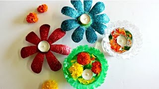 Diwali Decoration Idea Using Only 2 Plastic Bottles