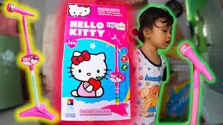 Mainan mikrofon anak microphone hello kitty, bisa karaoke dengan MP3 lagu kesukaanmu !