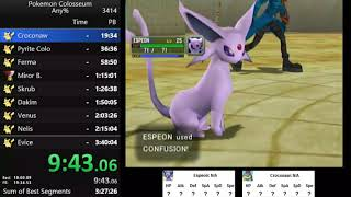 Pokemon Colosseum any% speedrun in 3:37:29
