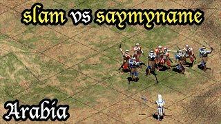 Aoe2 Expert Games: saymyname (Aztecs) vs slam (Incas) on Arabia