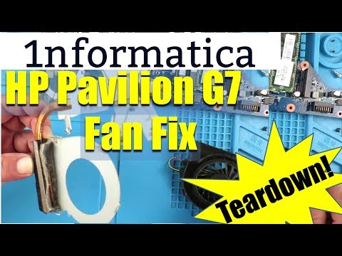 HP Pavilion G7 Fan Clean Thermal Paste Renew Repair Laptop Overheating Error