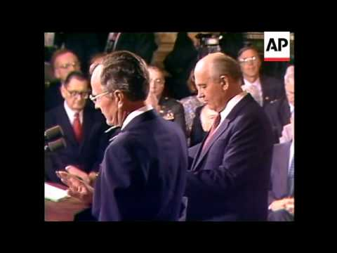 Bush And Gorbachev Sign Series Of Treaties