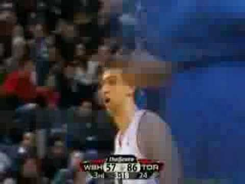 Andrea Bargnani vs Washington Wizards 30/01/2008