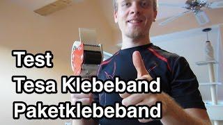 Test Tesa Klebeband Paketklebeband Packband Tesafilm Tesapack Empfehlung Video Review nanokultur.de
