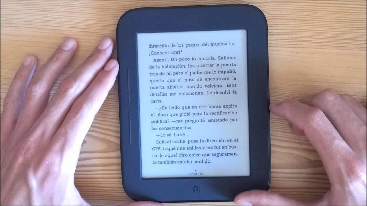 Libro Electronico Pantalla Tactil Nook Simple Touch En Español Parte 1