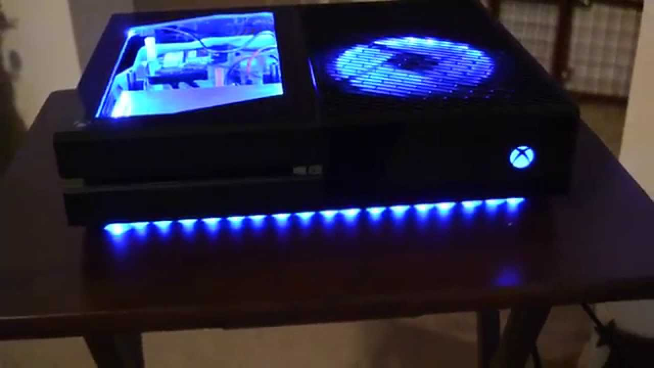 Case Modded Xbox One W Color Changing LEDs YouTube
