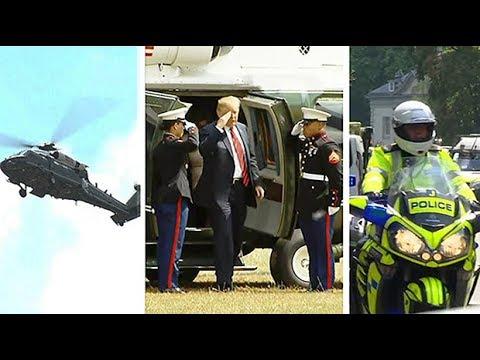 Donald Trump's UK security detail