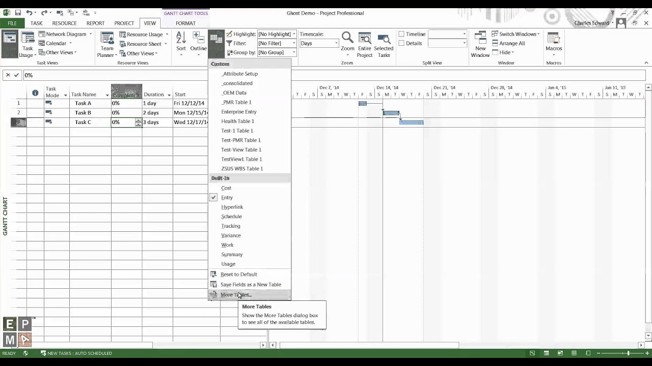 How to Remove Ghost Columns in Microsoft Project by EPMA