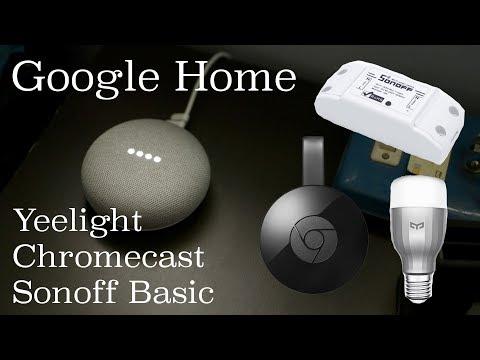 Google Home + Xiaomi Yeelight + Sonoff + Chromecast In India – Demo | Budget Indian Smart Home