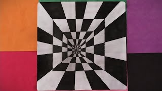 How To Draw 3D Tunnel Drawing  Optical illusion  Step by step 3d Drawing  3d illusion  3d Art
