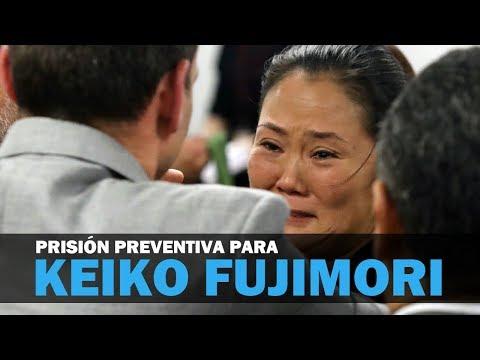 Ordenan 36 meses de prisión preventiva para Keiko Fujimori