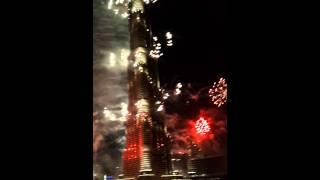 Dubaï feu d'artifice burj khalifa 2014