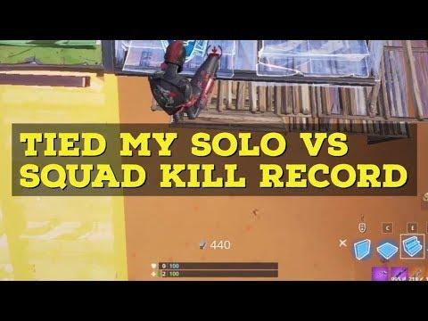 tied my Solo VS Squads kills record