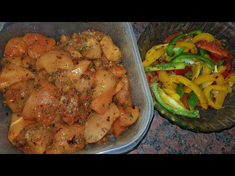 OVEN GRILLED CHICKEN & GRILLED PEPPERS