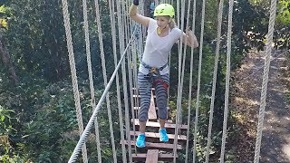 There was an accident............. (Thailand ropes course zipline family vlog)