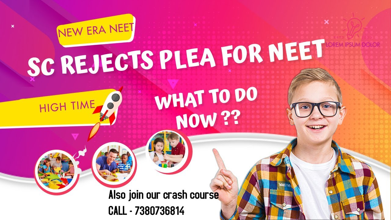 SC REJECTS NEET PLEA | HOW TO PROCEED NOW | CRASH COURSE 2020