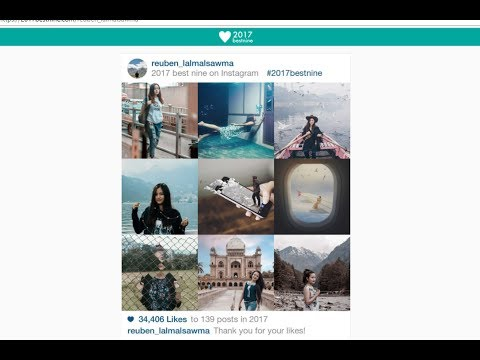 How To Get Instagram Best Nine 2017 Collage