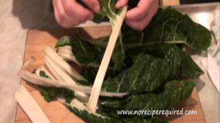 How To Clean Kale & Swiss Chard - Cooking Techniques By Noreciperequired