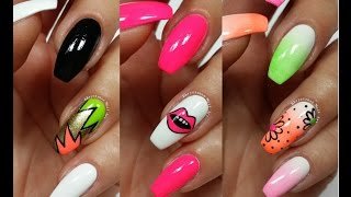 3 Easy Accent Nail Ideas! Freehand #6 (Khrystynas Nail Art)
