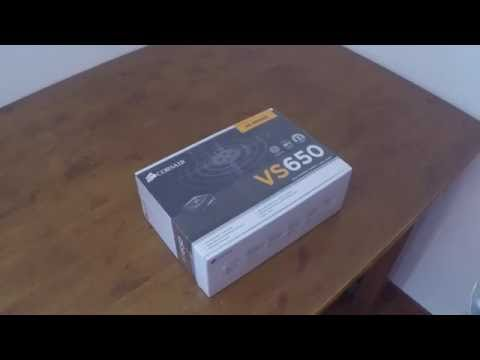 Corsair vs650 w PSU/power supply first look and unboxing