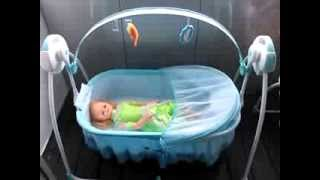 Electronic Baby Soothing Motions Cradle With Music And Swing
