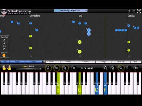 Sara Bareilles - Gravity - Full Song Piano Tutorial & Sheets (Easy Version)