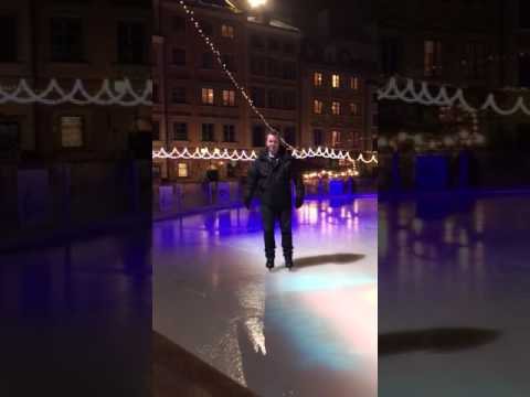Warsaw Christmas Market Ice Skating 2016!