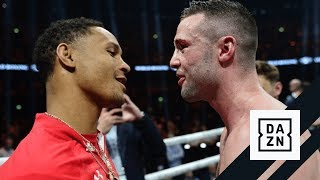 Regis Prograis & Josh Taylor Jaw At Each Other In The Ring