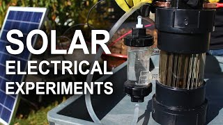 Solar Electrical Experiments