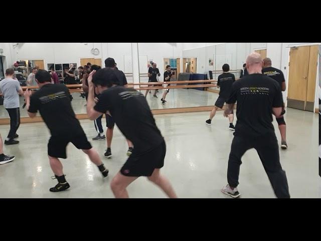 Martial Arts: Mastery of footwork at home