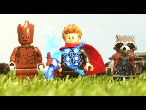 Avengers Infinity War Thor Arrives in Wakanda Bring Me Thanos fight scene Lego Stop Motion thumbnail