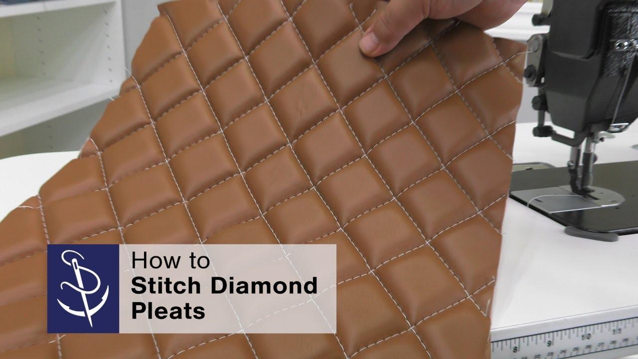 Stitching Diamond Pleats