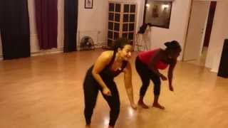 Iyanya ft. Flavour - Jombolo dance teaching at 6 months pregnant