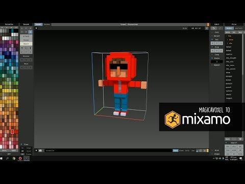 MagicaVoxel to Mixamo